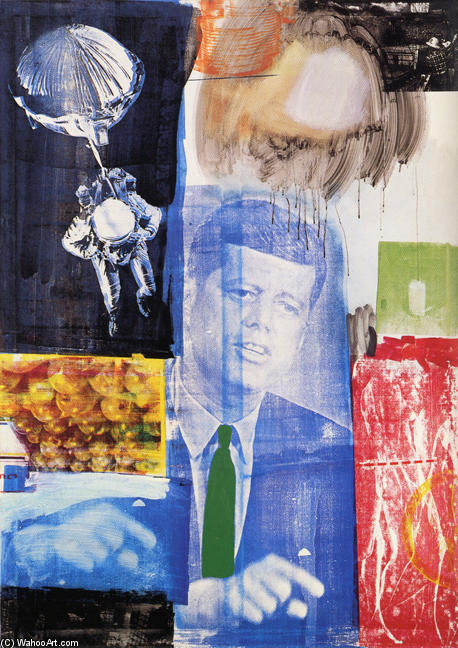 famous painting Retroactive of Robert Rauschenberg