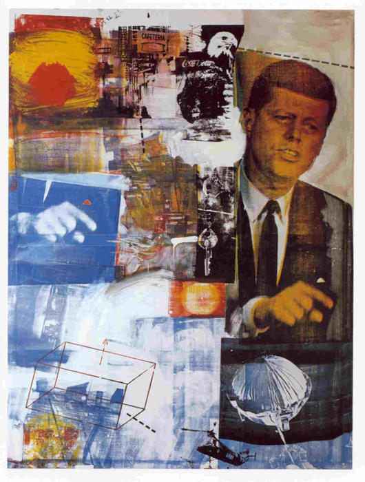 famous painting Kennedy of Robert Rauschenberg
