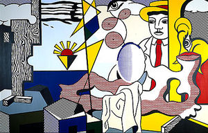 Roy Lichtenstein - Figures with sunset
