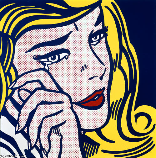 famous painting Crying girl of Roy Lichtenstein