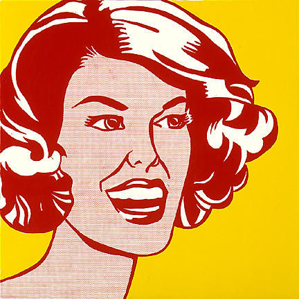 famous painting Head - red and yellow of Roy Lichtenstein