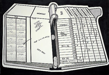 famous painting Desk calendar of Roy Lichtenstein