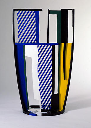 famous painting Glass IV of Roy Lichtenstein