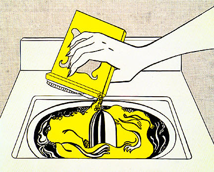 famous painting Washing machine of Roy Lichtenstein