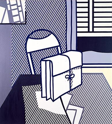 famous painting Still life with dossier of Roy Lichtenstein