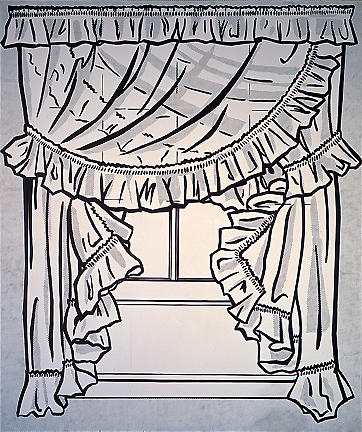 famous painting Curtains of Roy Lichtenstein