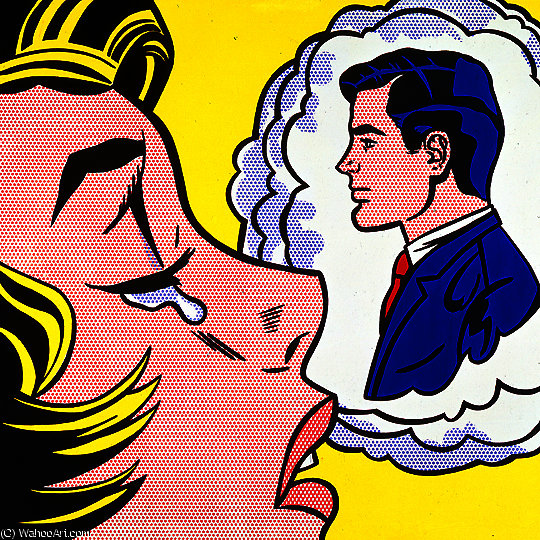 famous painting Thinking of him of Roy Lichtenstein