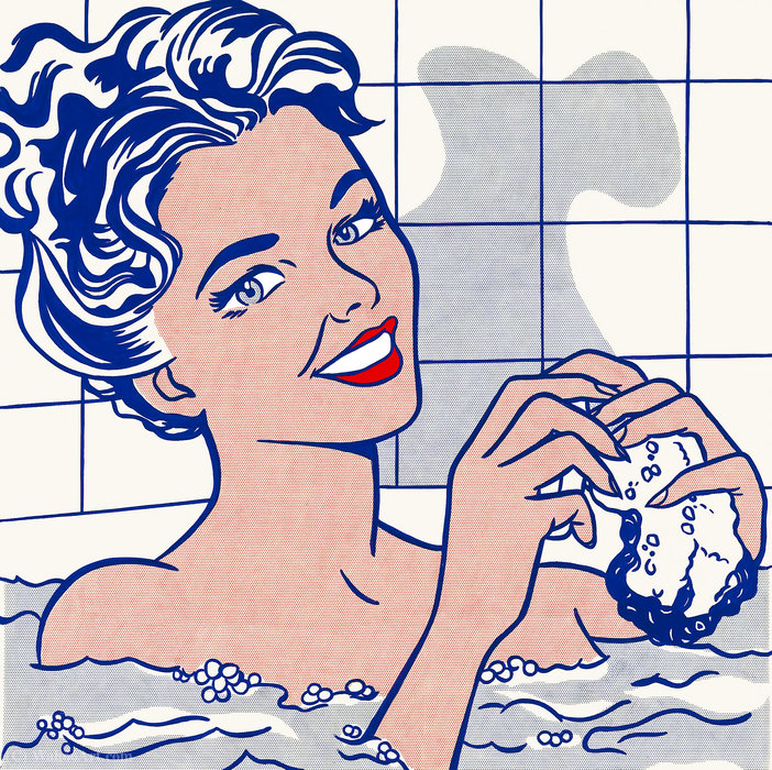 famous painting Woman in bath of Roy Lichtenstein