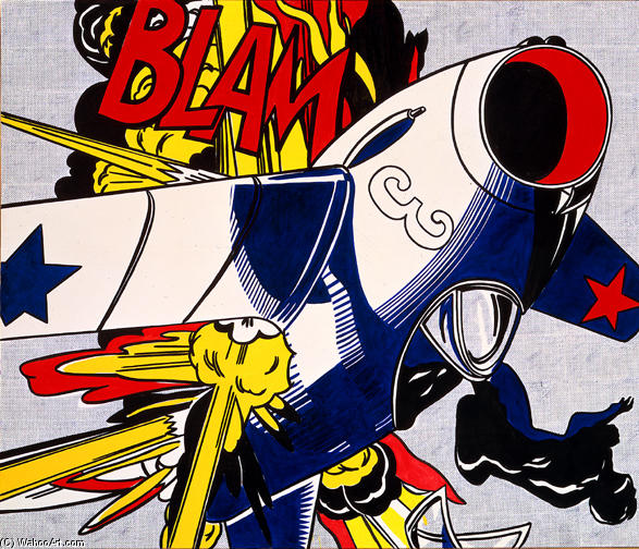 famous painting Blam of Roy Lichtenstein