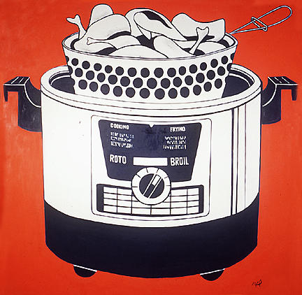 famous painting Roto Broil of Roy Lichtenstein