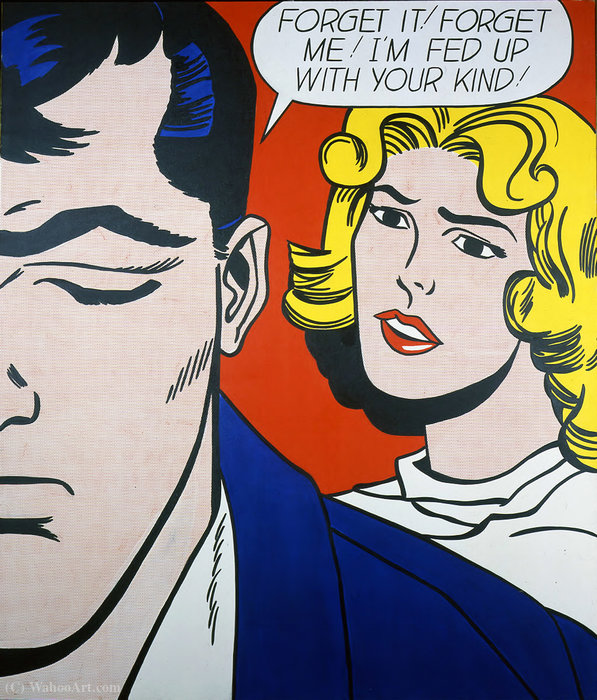famous painting Forget it! Forget me! of Roy Lichtenstein