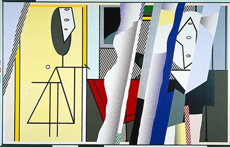 famous painting Reflections on the artist's studio of Roy Lichtenstein