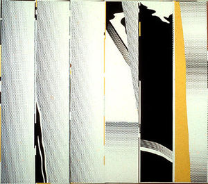 Roy Lichtenstein - Mirror six panels #1
