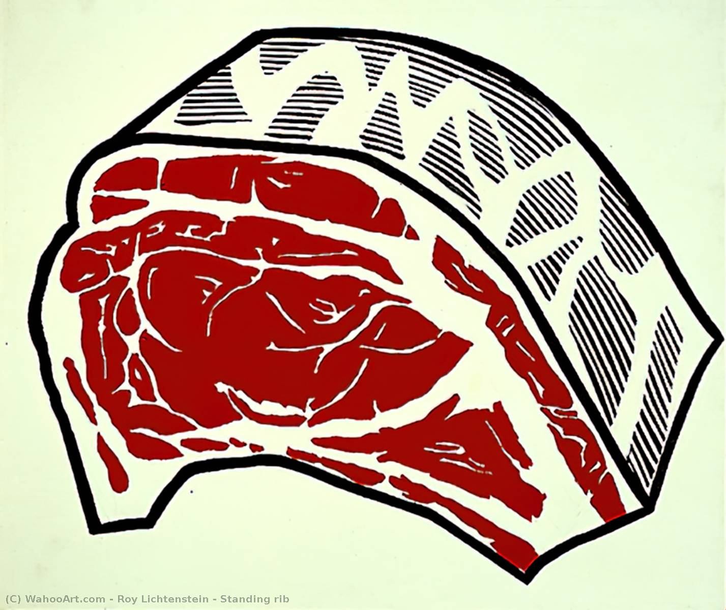 famous painting Standing rib of Roy Lichtenstein