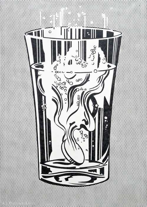 famous painting Alka Seltzer of Roy Lichtenstein