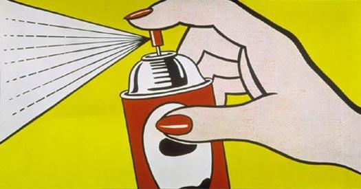 famous painting Spray of Roy Lichtenstein