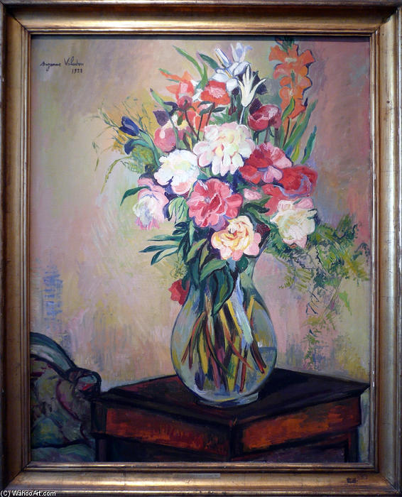 famous painting Bouquet of flowers of Suzanne Valadon