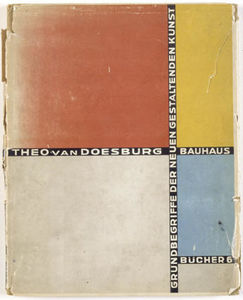 Theo Van Doesburg - Cover of 'Basic concepts of the new creative art'