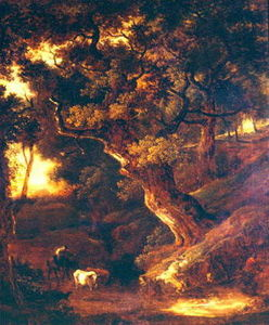 Thomas Gainsborough - Landscape with cows and human figure