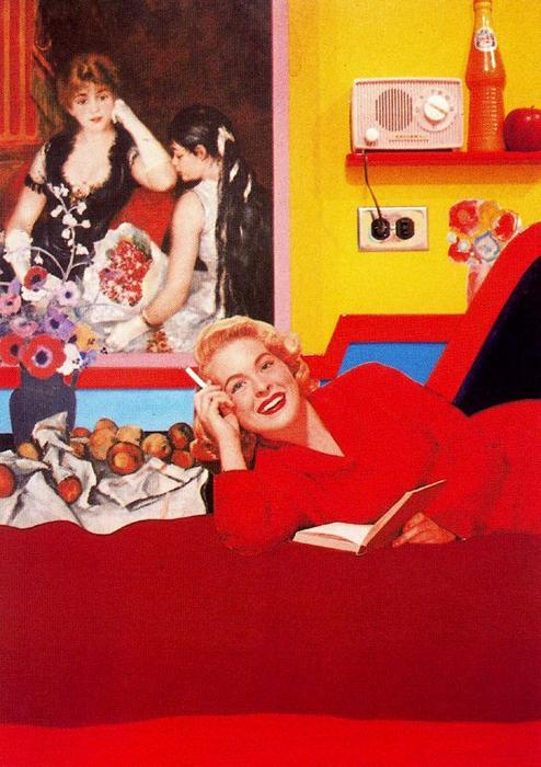 famous painting Great American Nude of Tom Wesselmann