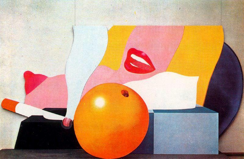 famous painting Great American Nude No.98 of Tom Wesselmann
