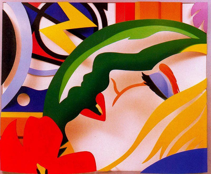 famous painting Lichtenstein bedroom face of Tom Wesselmann