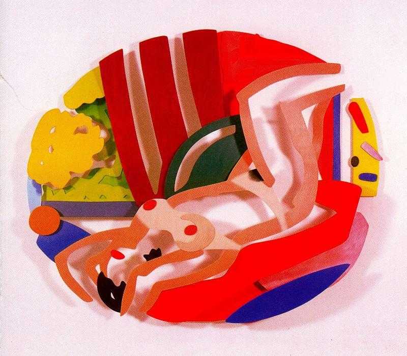 famous painting Naked on her back of Tom Wesselmann