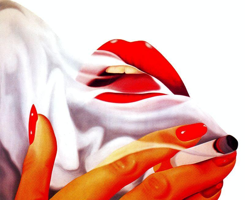 famous painting Smoker of Tom Wesselmann