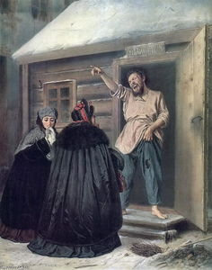 Vasily Grigoryevich Perov - Caretaker Letting an Apartment to a Lady