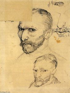 Vincent Van Gogh - Two Self-Portraits and Several Details