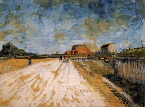 Vincent Van Gogh - Road Running Beside the Paris Ramparts