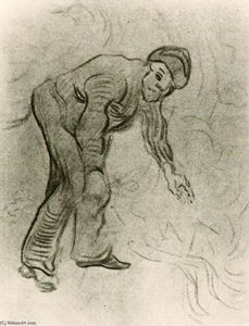 Vincent Van Gogh - Sketch of a Stooping Man