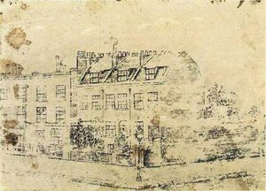 Vincent Van Gogh - Vincent's Boarding House in Hackford Road, Brixton, London