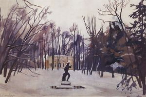 Zinaida Serebriakova - Winter in the royal village. Upper Bath