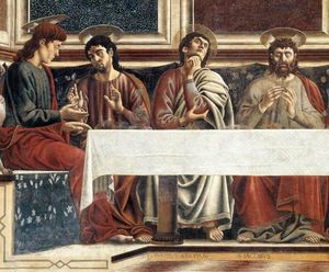 Andrea Del Castagno - Last Supper (detail)