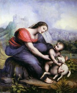 Cesare Da Sesto - Madonna and Child with the Lamb of God