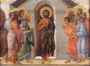 Duccio Di Buoninsegna - Appearence Behind Locked Doors