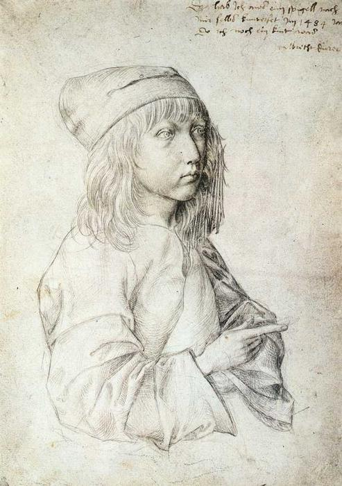 famous painting Self-Portrait at 13 of Albrecht Durer
