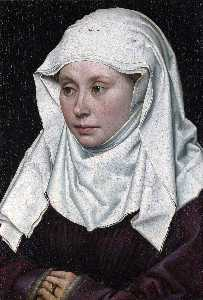 Robert Campin (Master Of Flemalle) - Portrait of a Woman