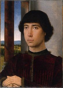 Hans Memling - Portrait of a Man at a Loggia