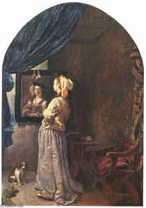 Frans Van Mieris - Woman before the Mirror
