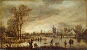 Aert Van Der Neer - River in Winter