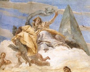 Giovanni Battista Tiepolo - Bellerophon on Pegasus (detail)