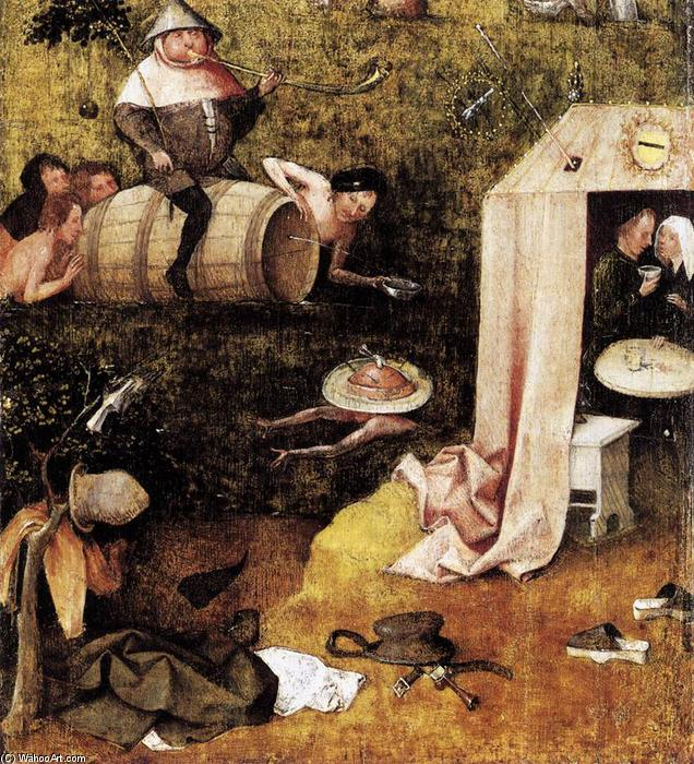 famous painting Allegory of Gluttony and Lust of Hieronymus Bosch