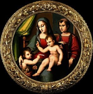 Andrea Del Brescianino - Madonna and Child with the Infant St John and St Peter Martyr