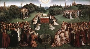 Jan Van Eyck - The Ghent Altarpiece: Adoration of the Lamb