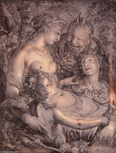 Hendrick Goltzius - Without Ceres and Bacchus, Venus would Freeze