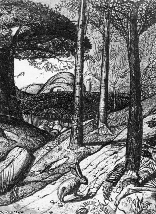 famous painting Early Morning (detail) of Samuel Palmer