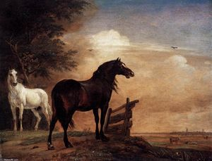 Paulus Potter - Horses in a Field