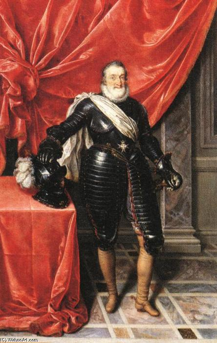 famous painting Henry IV, King of France in Armour of Frans The Younger Pourbus